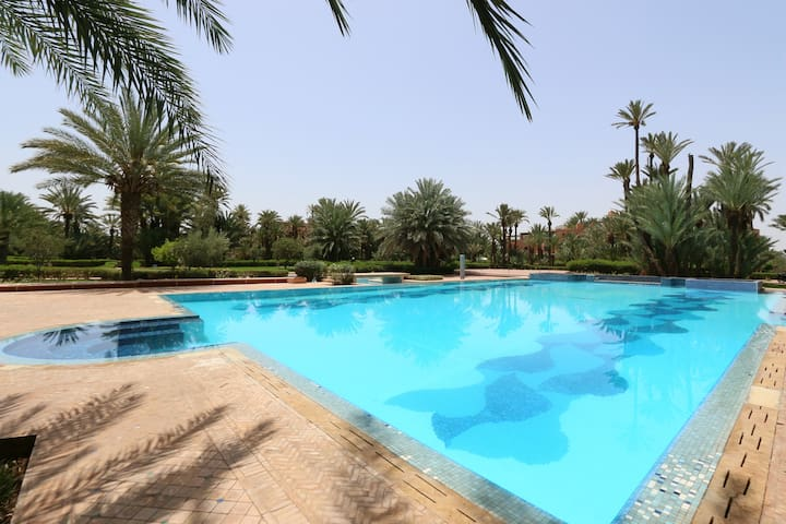 Suite + Terrace in the Palm Grove & Swimming Pool