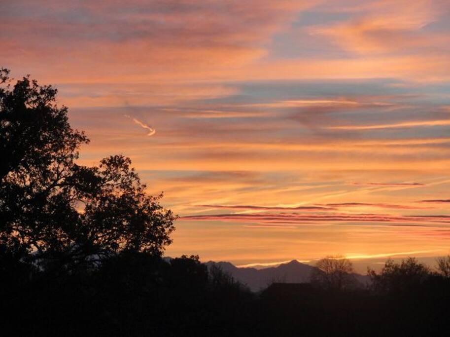 coucher du soleil vu de chez nous