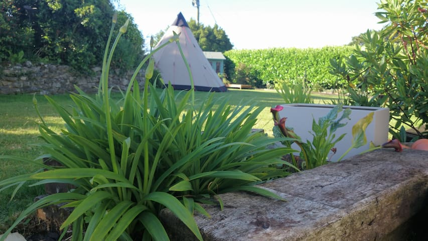 Glamping Tipi with Hot Tub, close to Eden Project. - St Austell