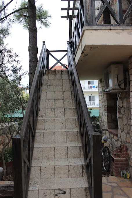 Staircase to the entrance