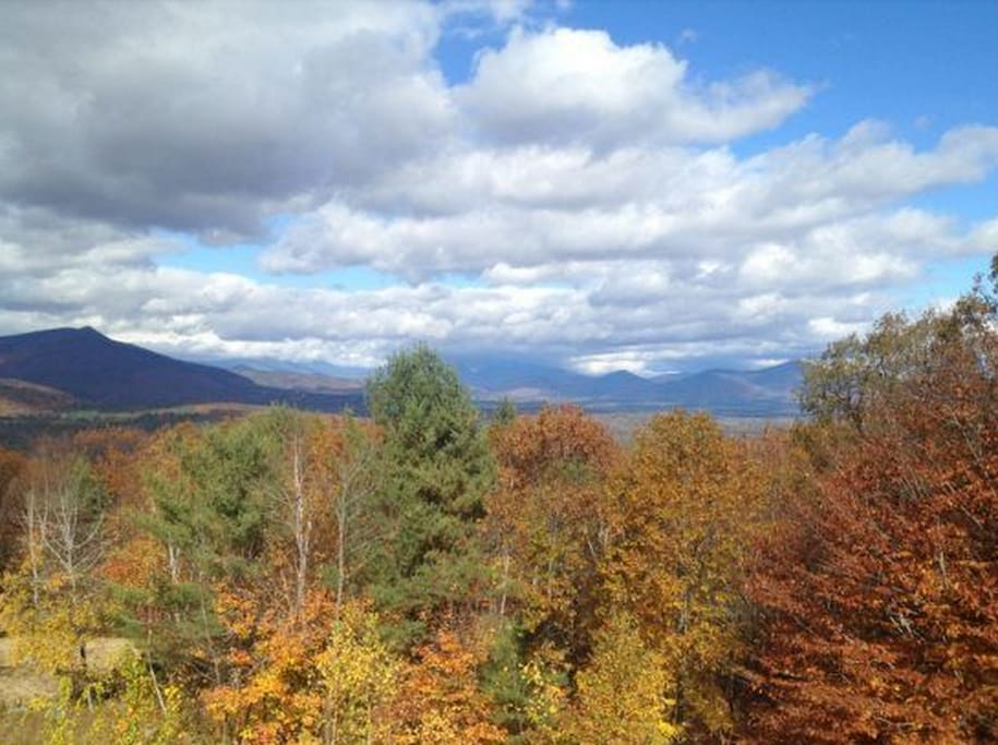 View from the deck of Mt Washington Valley in the fall