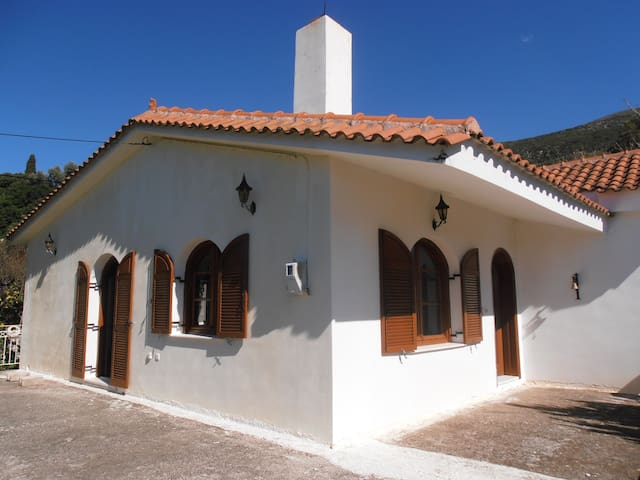 Traditional house with view in a beautiful village - Kardakata
