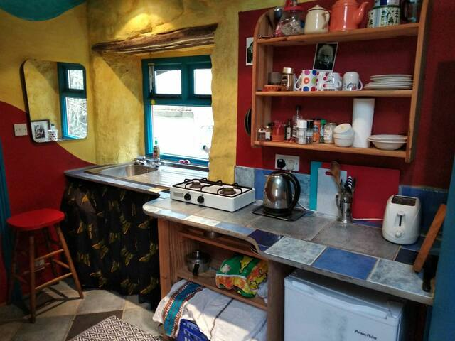 Kitchen with Gas Cooker and Fridge