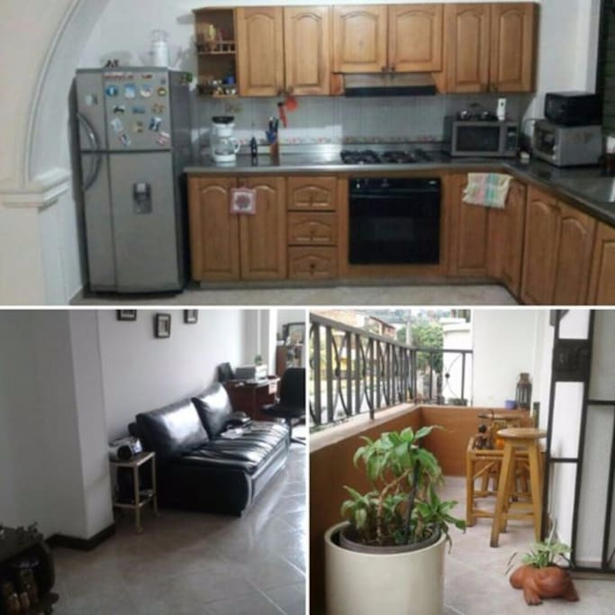 Spacious Kitchen, Living room and nice Balcony