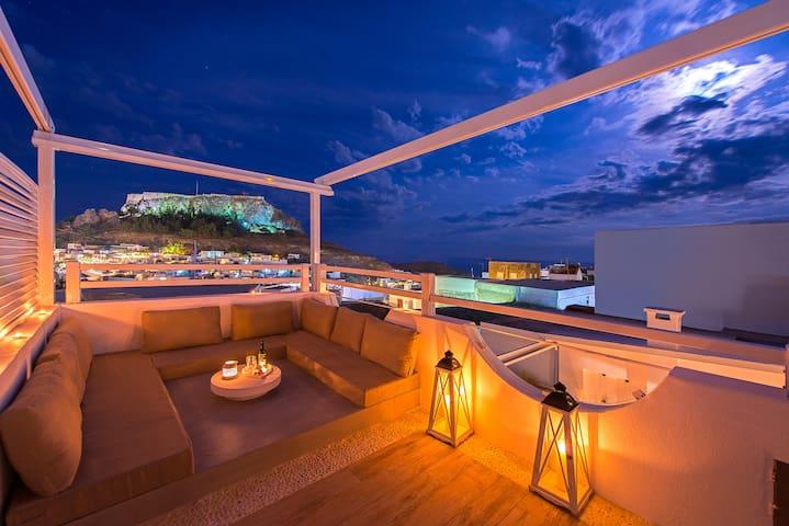 Lindos Allure Villa with Acropolis view & Jacuzzi
