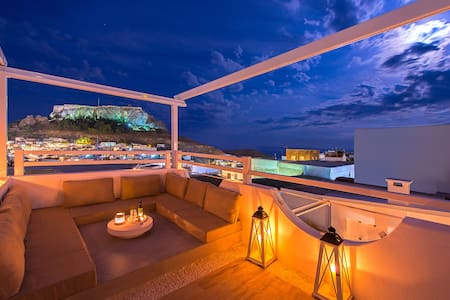 Lindos Allure Villa with Acropolis view & Jacuzzi