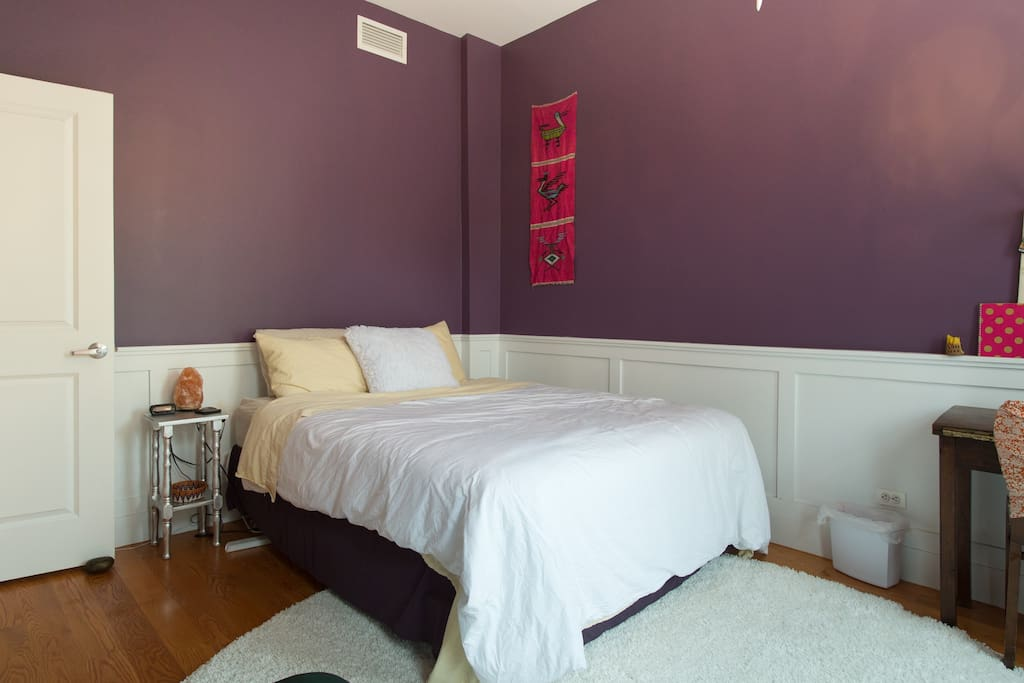 Your room - the purple palace!