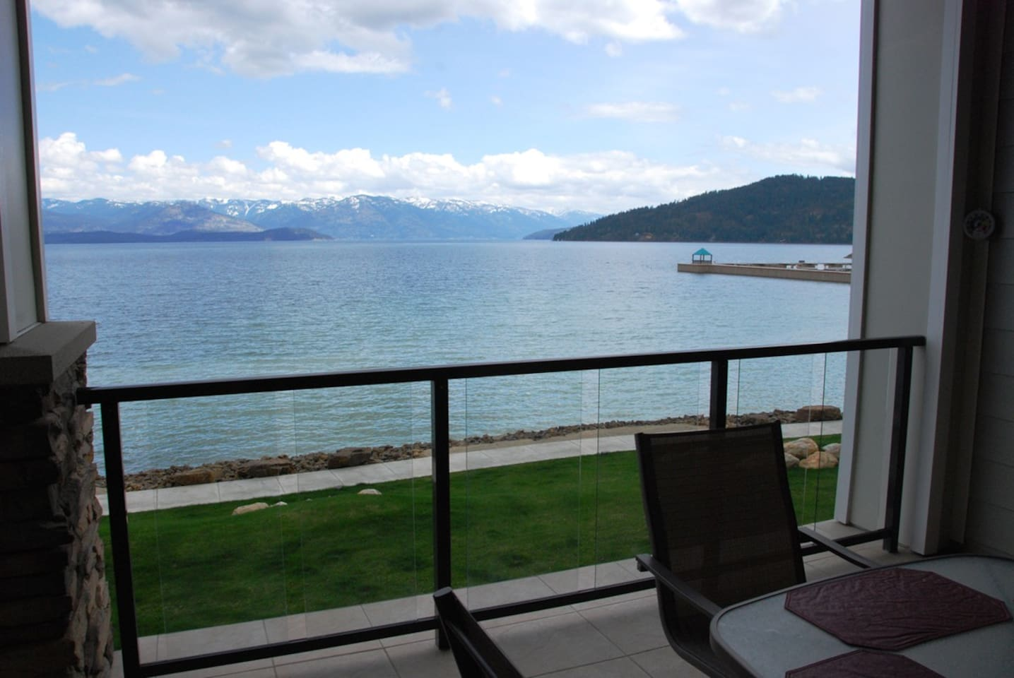 13x13 patio overlooking the lake is perfect for star gazing or having dinner with a view