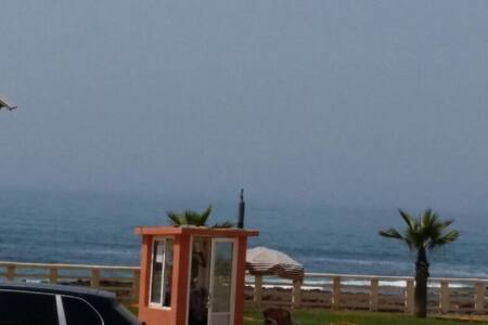 front de mer avec grande terrasse