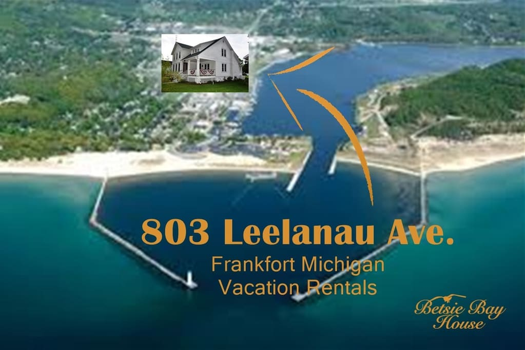 We are 2 blocks from Betsie Bay and 8 blocks from Lake Michigan.  Everything in town is within walking distance.