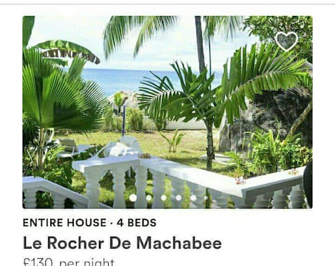 Dom przy plaży Les Rocher de Machabe.