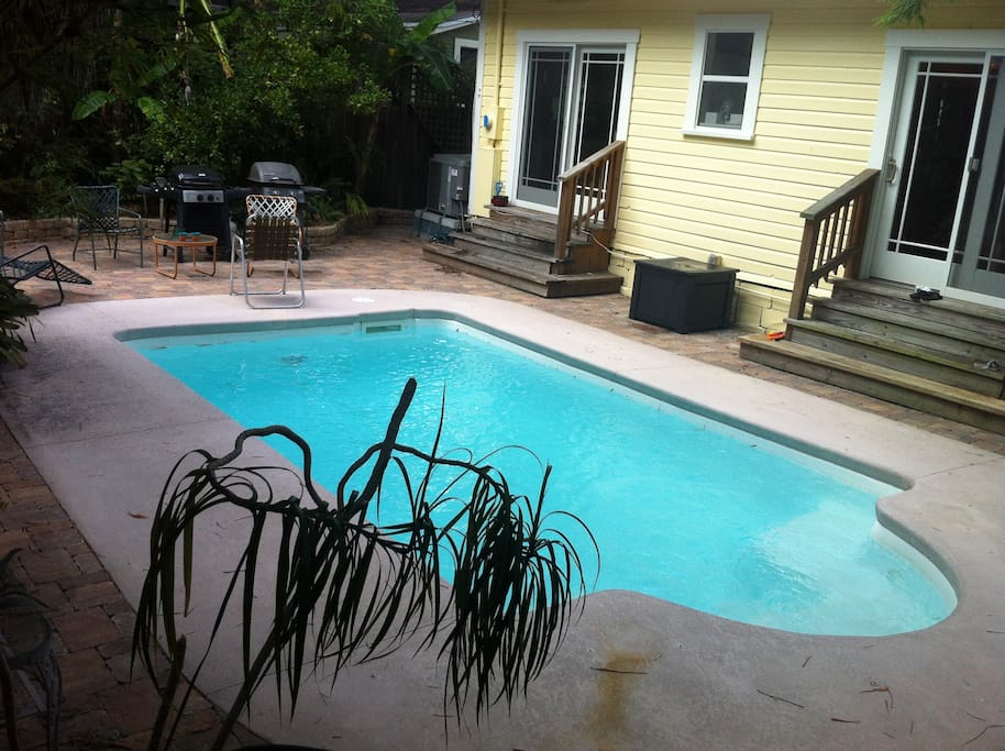 Pool from back of house.