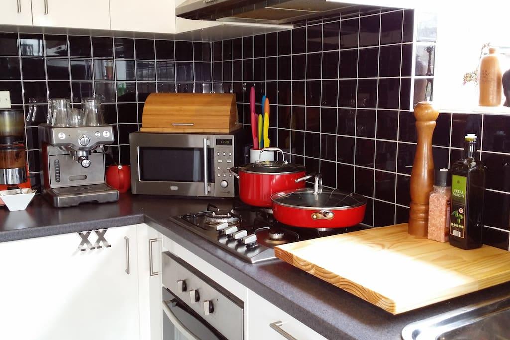 Kitchen with Coffee Machine