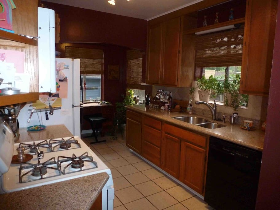 Shared kitchen (with owner and other guests).
