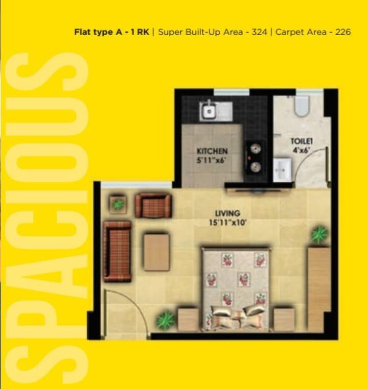 Independent Studio Apartment near Guwahati-Airport