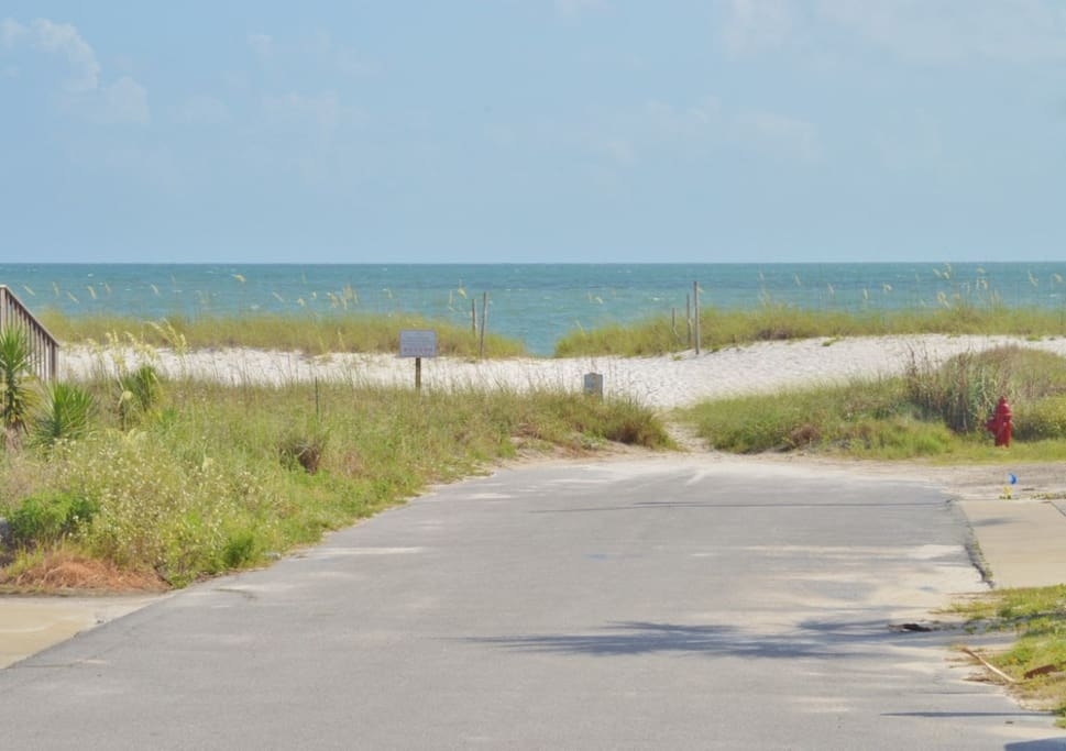 Beach access is a 1 minute walk from the property