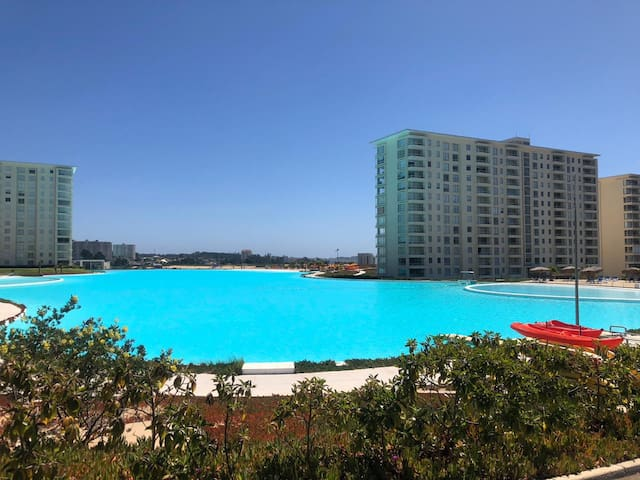 Hermoso departamento Laguna Bahía