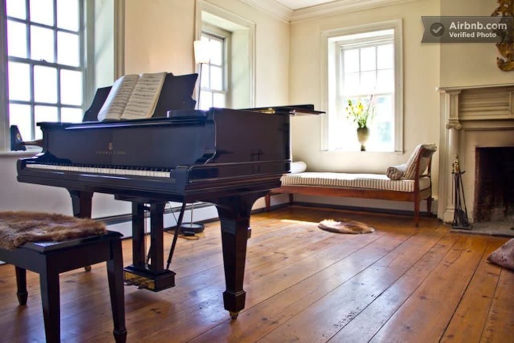Steinway Grand piano in the living room