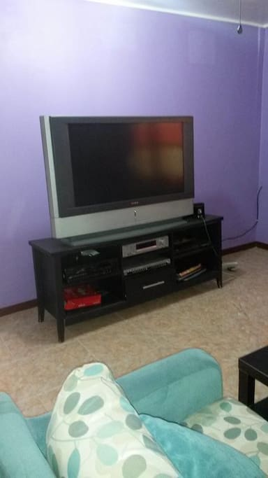 living room  lower unit house  television
