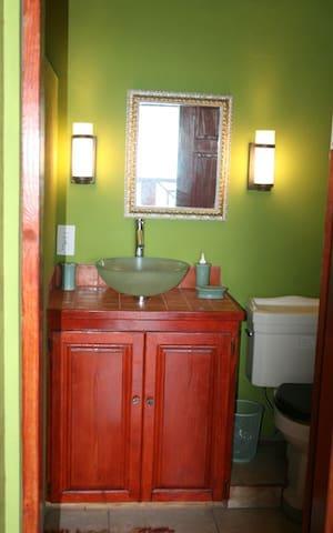 Entrance into the bathroom