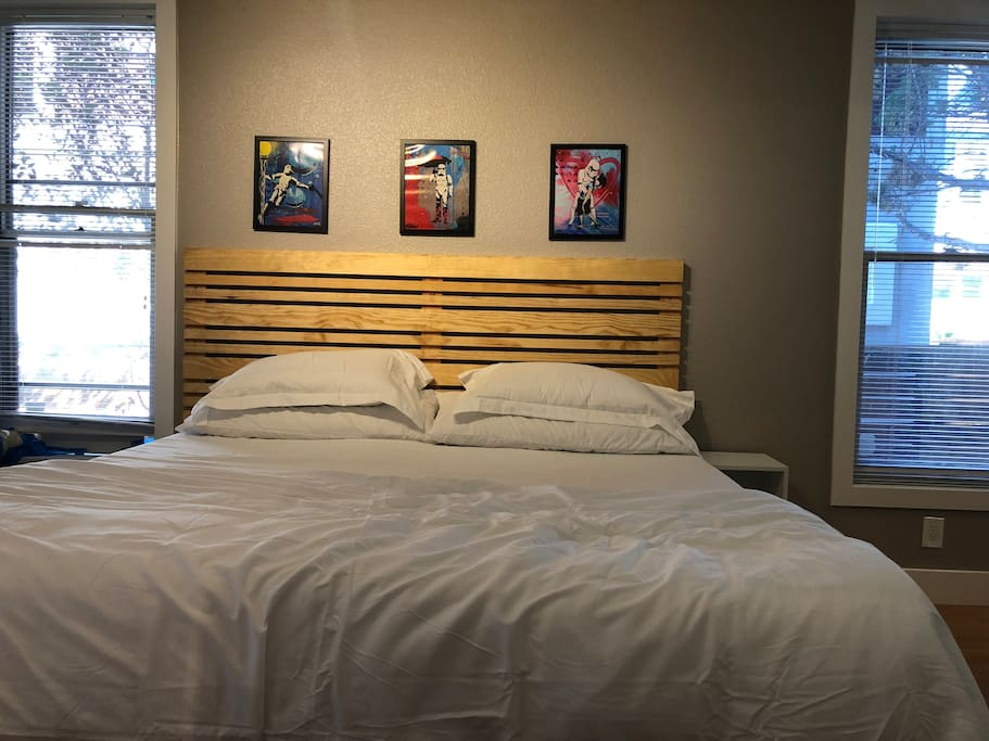 King Sized Bed with Local Art