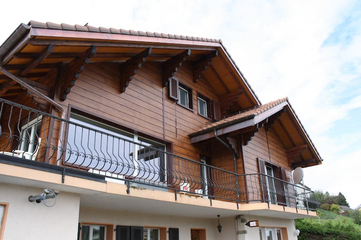 Appartement de 3 chambres au calme dans chalet - Granges (Veveyse) - Appartement