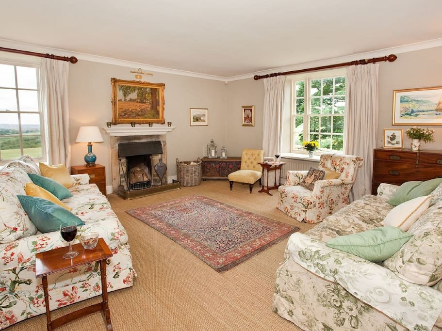 One of the lovely living rooms