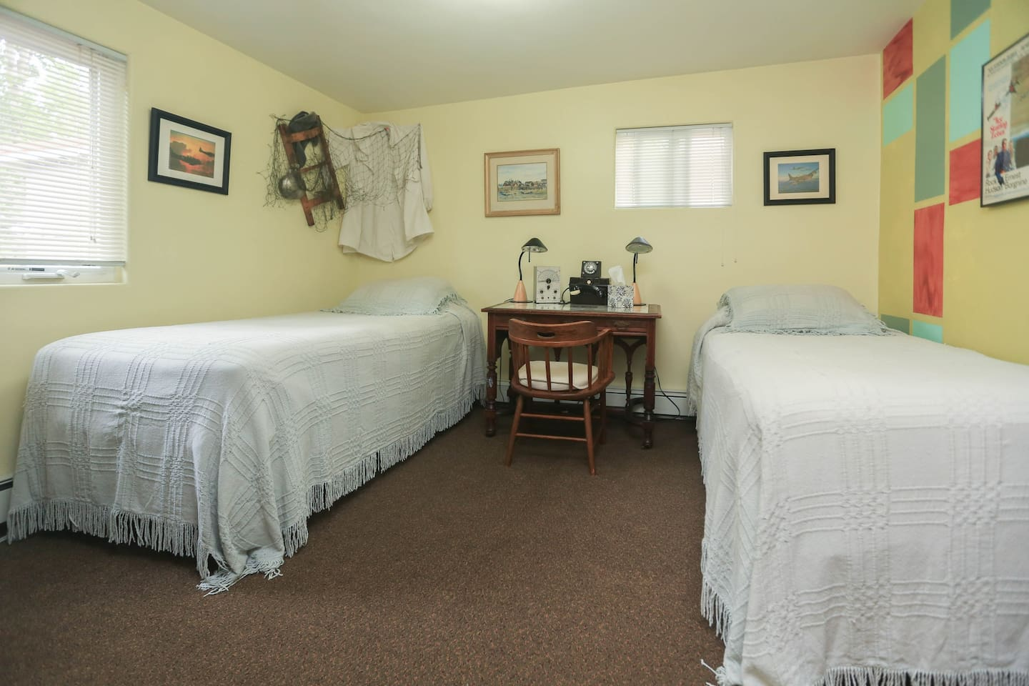 These twin beds are new, extra-longs and very comfortable.