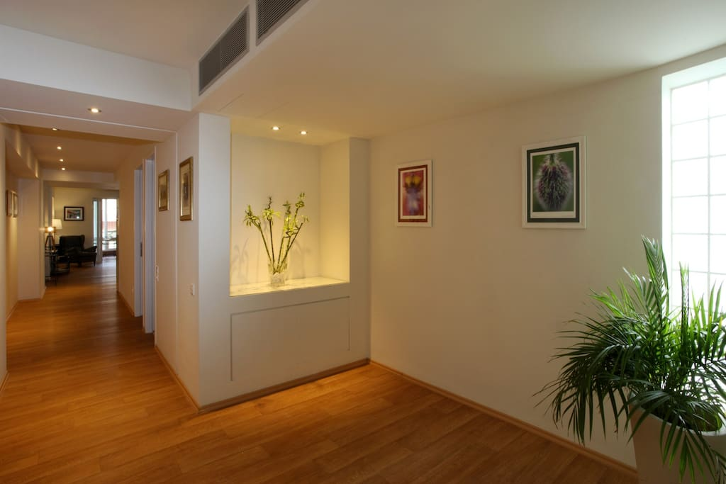 A bright entrance leading to the living room,dining…lounge area