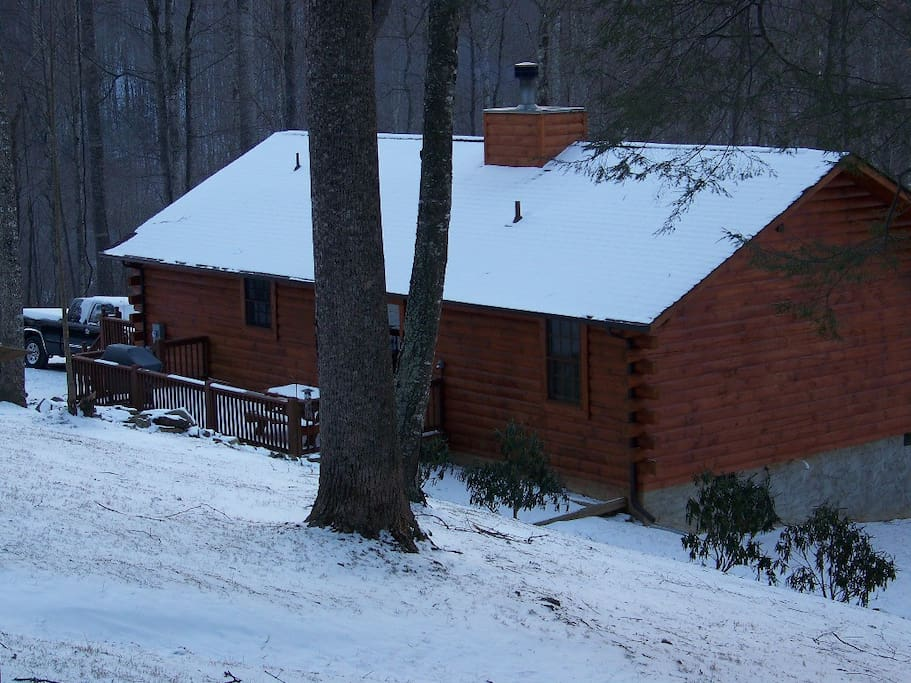 Winter at Cataloochee Mtn Cabin