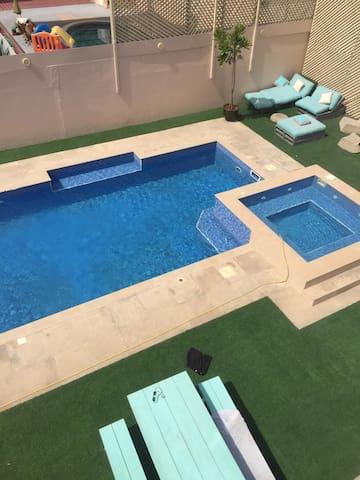 Master bedroom in luxury villa with huge pool 2