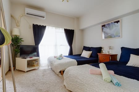 N1.KUROMON☆Close to Namba/Shopping ST/4DBbeds - Osaka - Íbúð