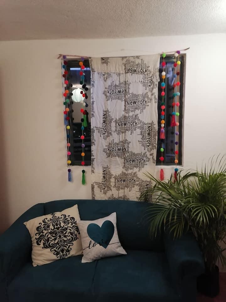 Departamento Frida en el centro