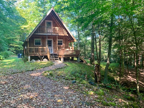 Hideaway Falls - cabin with private waterfall view