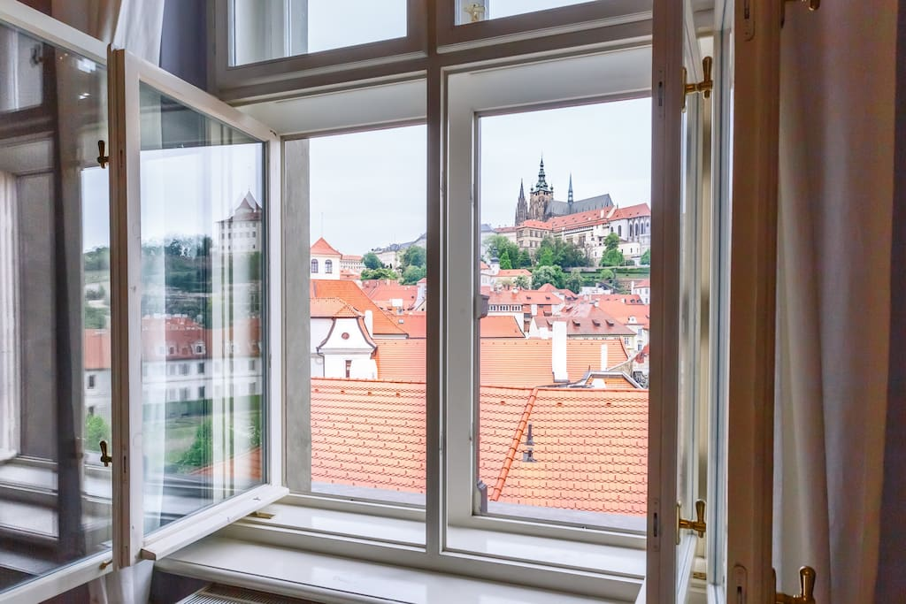 View from window on Prague castle