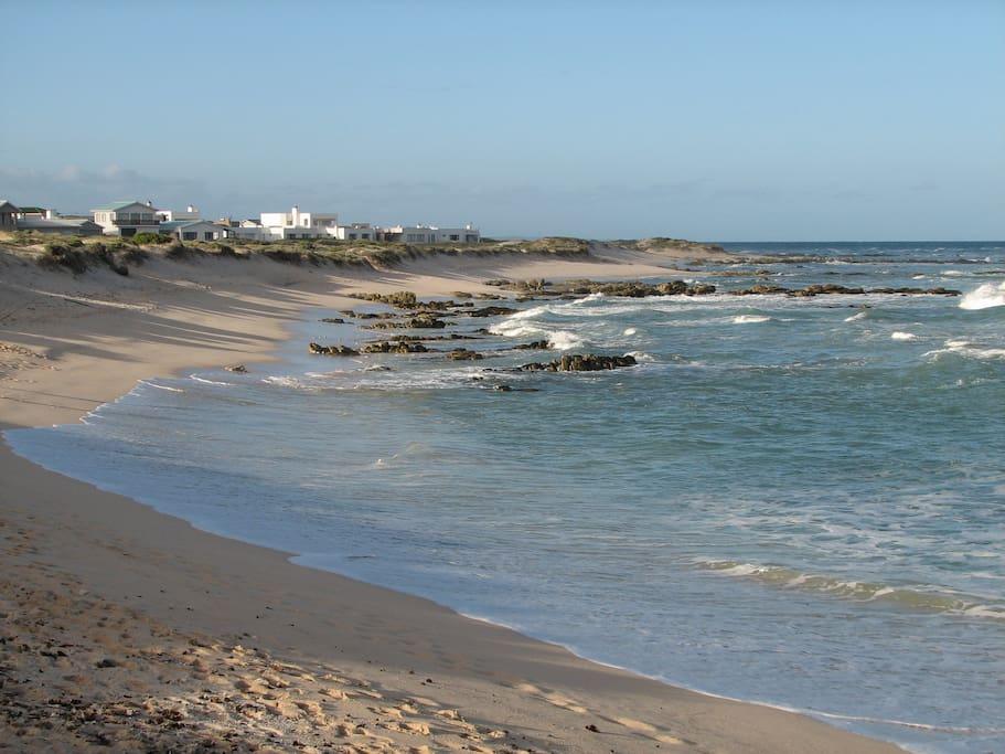 Turquoise sandy beaches of Arniston