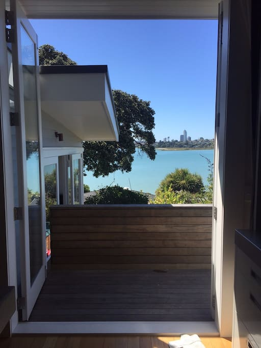 Stunning view of the bay from the kitchen.