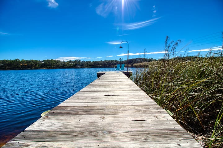 Lakefront Gem with Dock on 30A | Kayak to Beach!