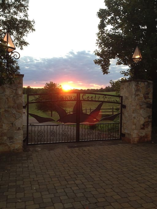 Gate to Janua Coeli at sunset