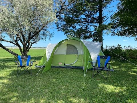 Gardner Family Farm and Iowa Hemp Farm Stay Tent 4