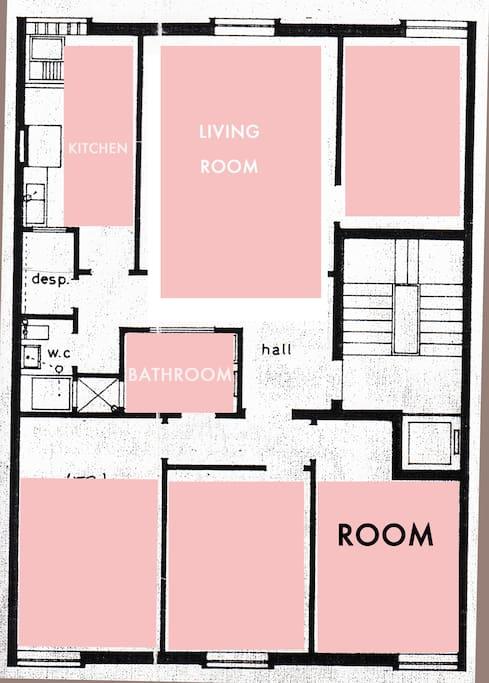 rooms location at Casa Diu