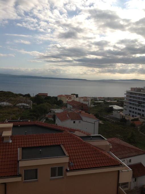 view of dark clouds (very rare thing in Dalmatia, because almost every day is the sunny day)