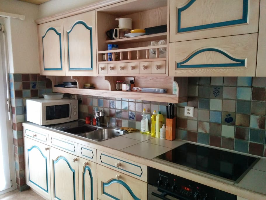 Kitchen, where you are free to use whatever you need