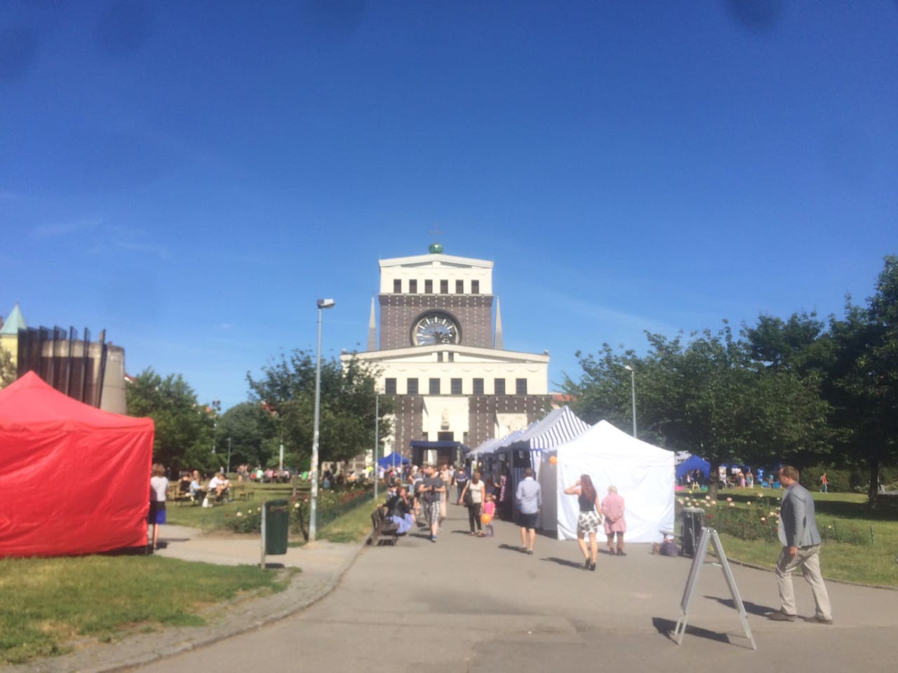 Here is a view of the Jiriho z Podebrad square on a food festival day.