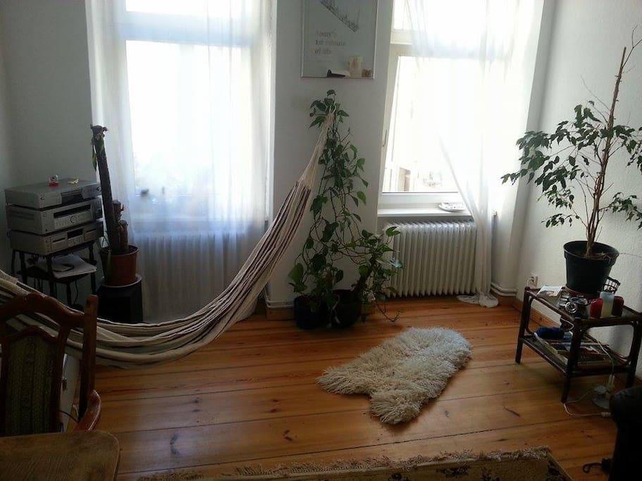 Wohnzimmer mit Hängematte