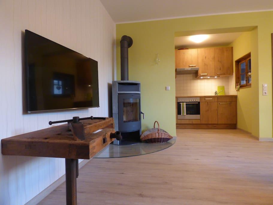 Wohnbereich mit offener Küchenzeile