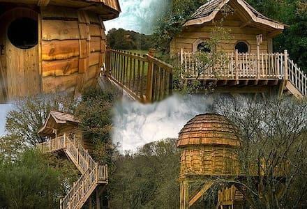 Cabane dans les arbres-enchantée 2p - Moustoir-Ac
