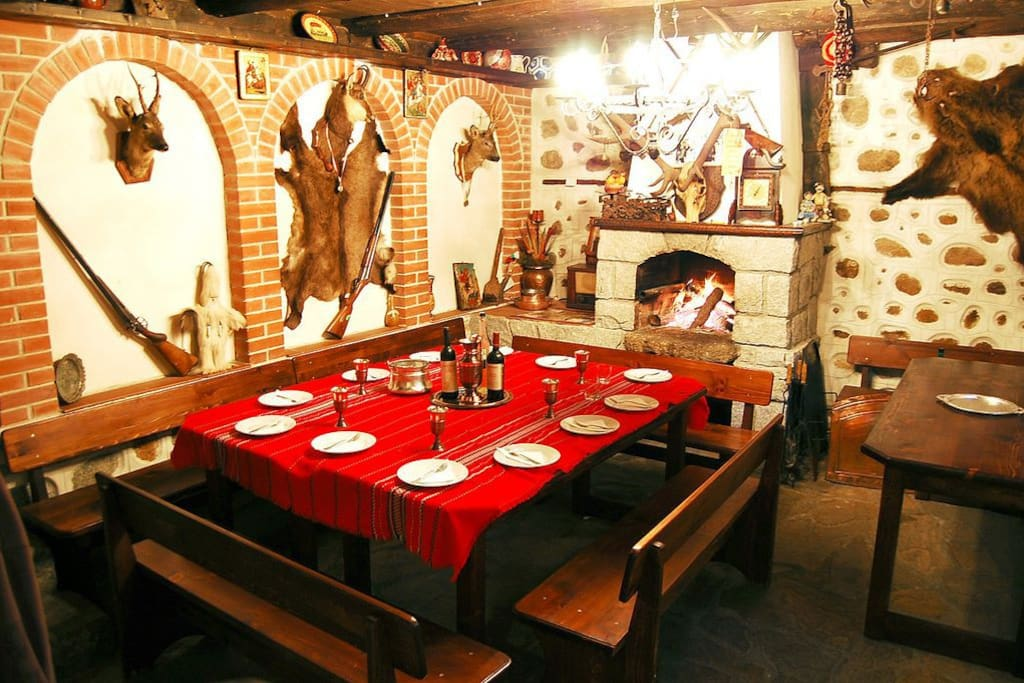 Traditional style Bulgarian dining room