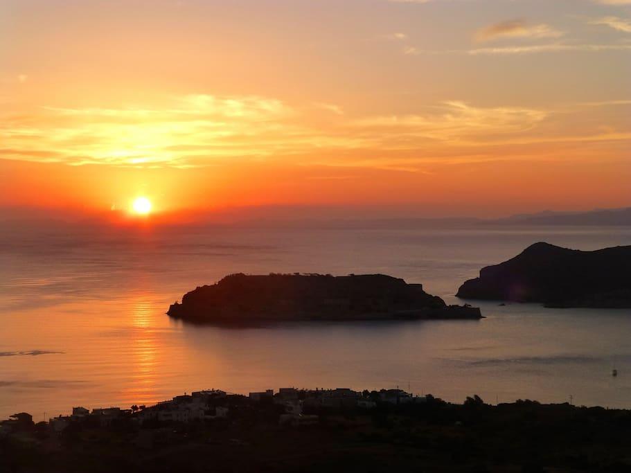 Dawn rising over Spinalonga Island