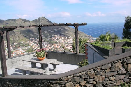 Panoramic view of see and mountain - Machico